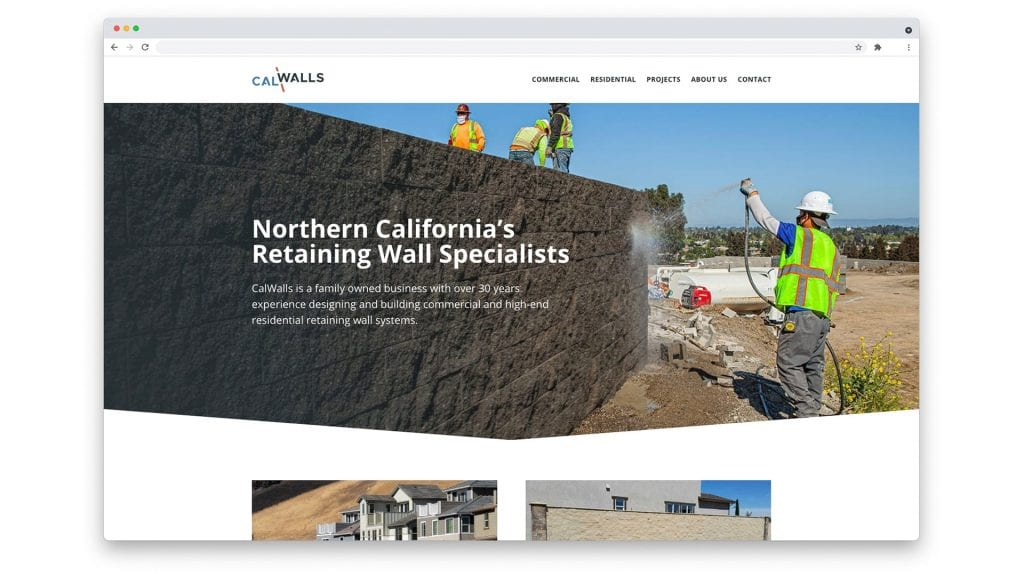 CalWalls home page design
