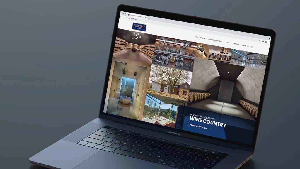 Nordby Construction homepage design