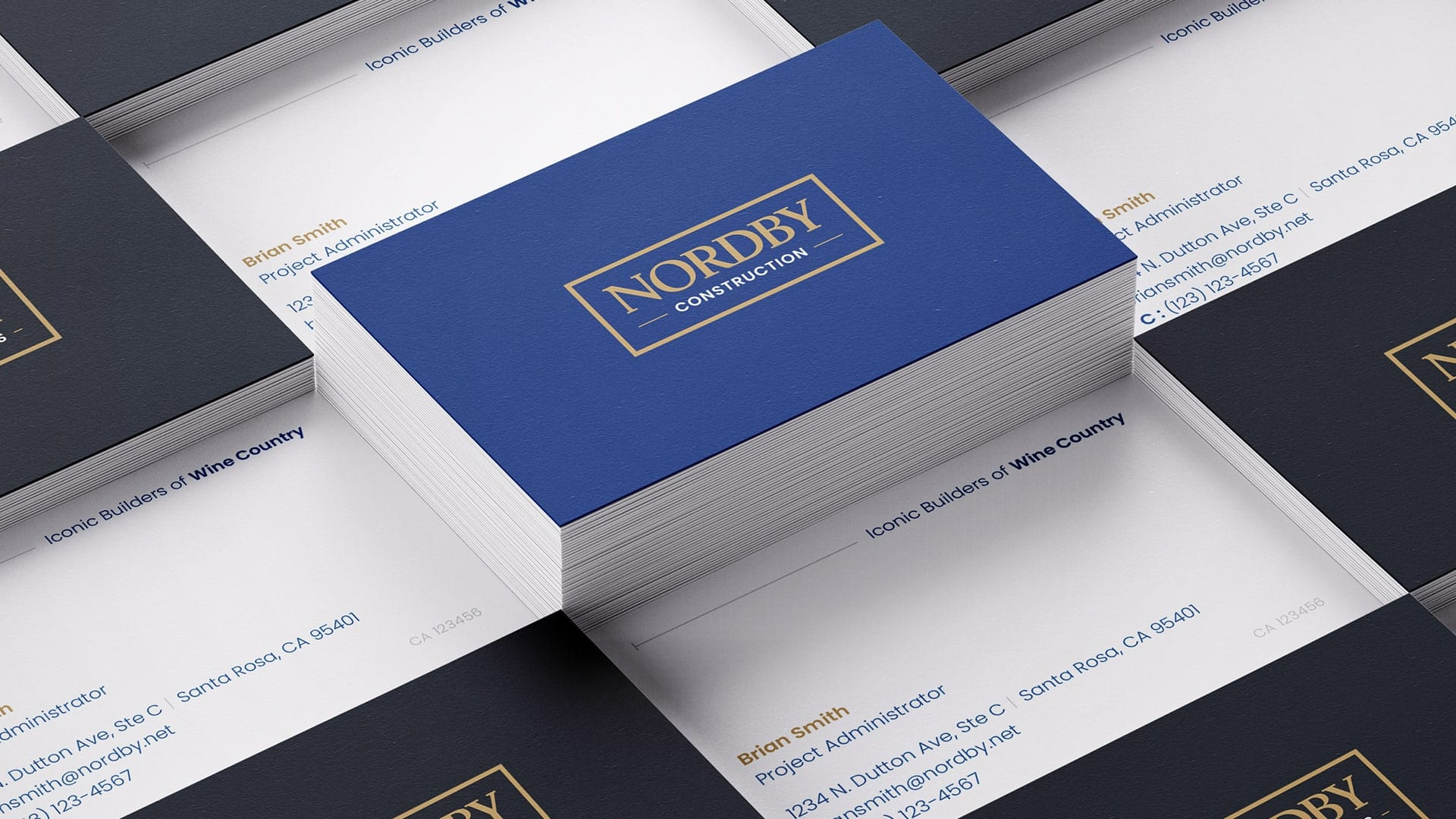 Nordby Construction business cards design