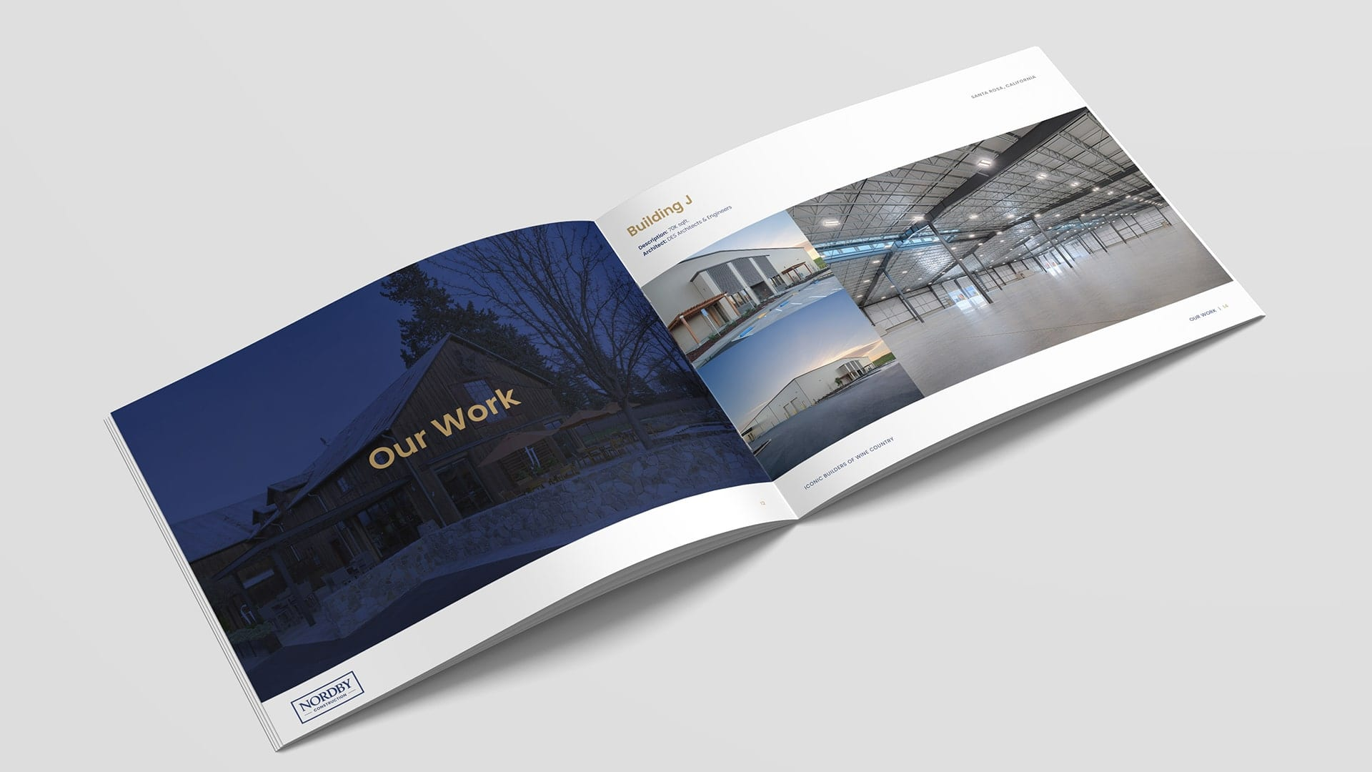 Nordby wine caves brochure design
