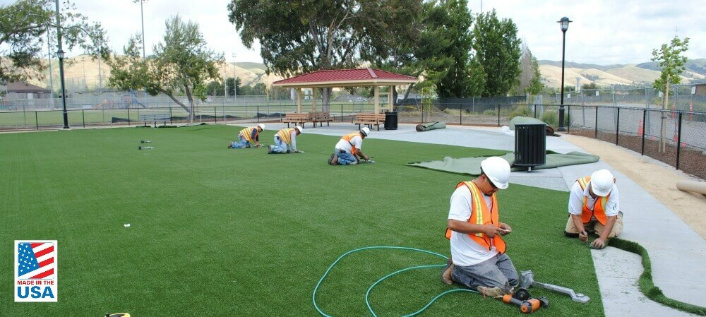 about-field-of-green-turf-installation